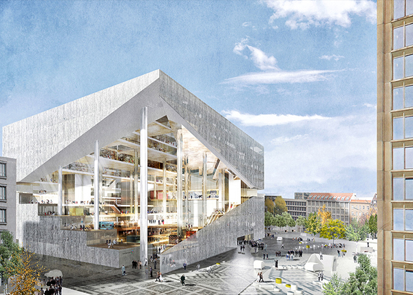 OMA Wins Competition To Design New Media Center In Berlin