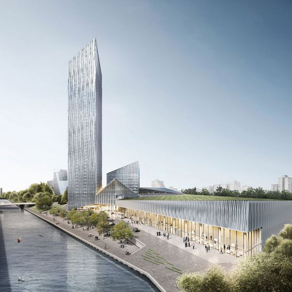 Barkow leibinger won competition to design tallest berlin for Design berlin