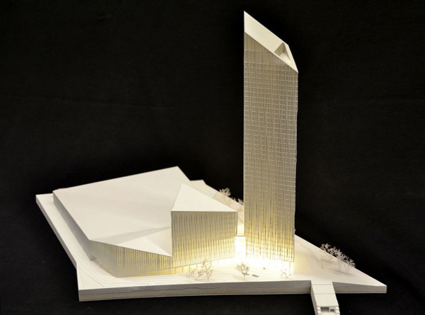 Invited competition, tower, tangram, Barkow Leibinger, Estrel Hotel, berlin, germany, first prize, hotel design, Schönefeld, airport, high rise