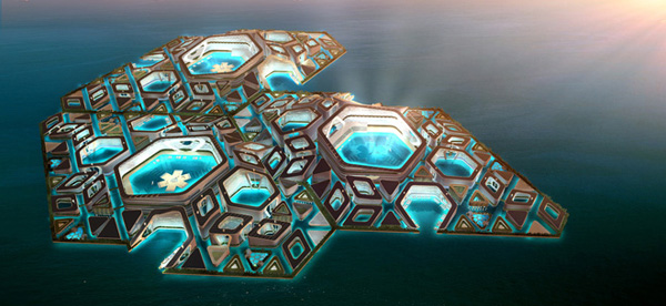 AT Design Office, sustainable design, sustainability, floating city, metropolis, ocean, mixed-use, adaptive, environment
