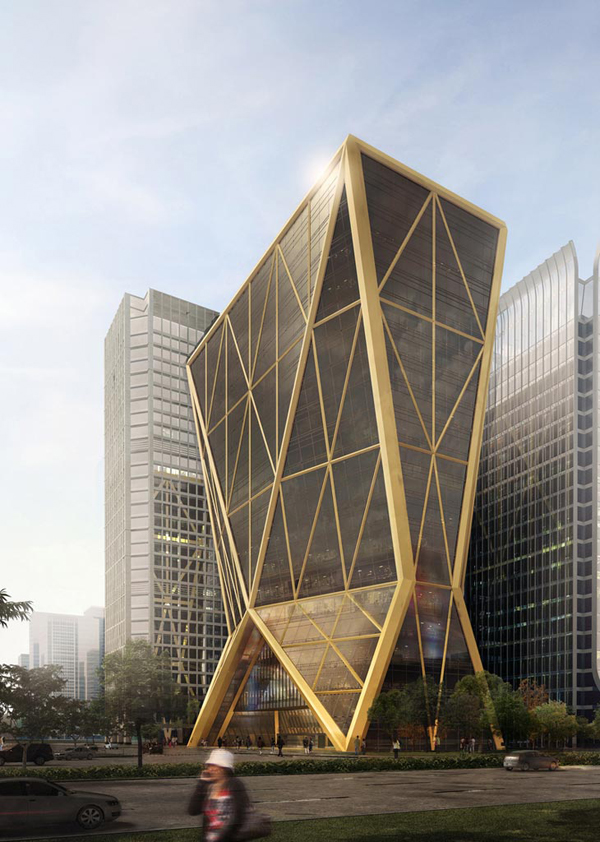 Citic Bank Headquarters Diagrid Lattice Inspired By The