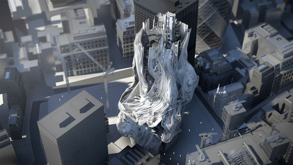 architecture distortion simulation of gravity   3d-dreaming