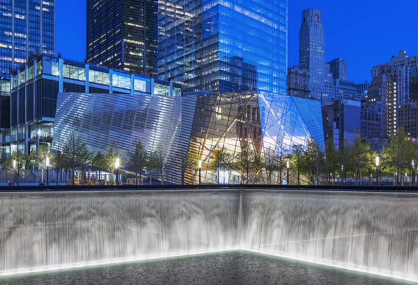 Memorial plaza, Snøhetta, New York, US, pavilion, ground zero, world trade center, LEED, wtc