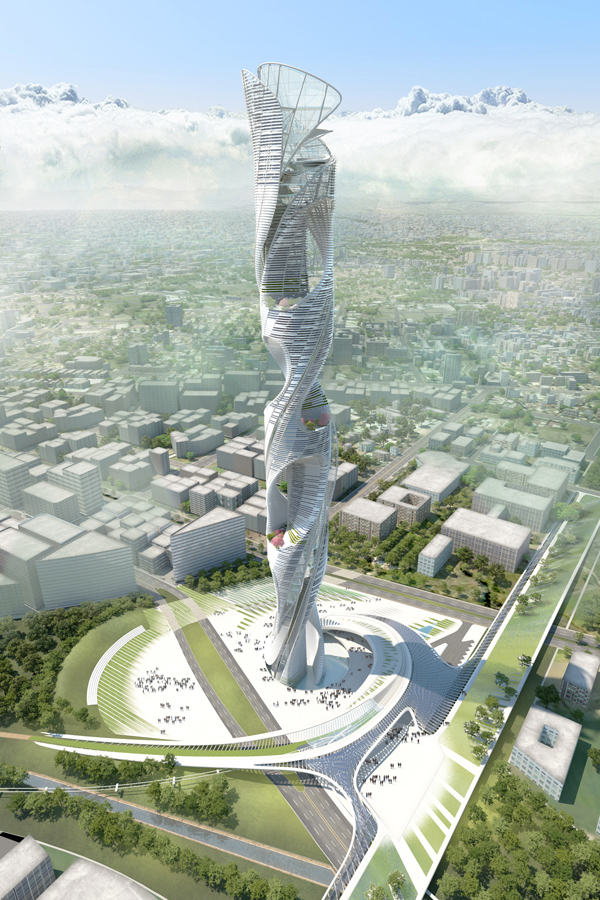 Sustainable, HMC Architects, Raymond Pan, HOY Architects and Associates, Taiwan, tower, design competition, beacon, Taichung, skyscraper