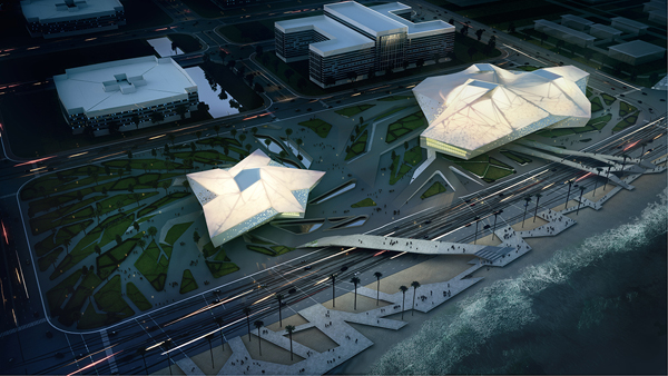 SDA, Synthesis Design+Architecture, cross-straight, cultural center, cultural facility, Fuzhou, China, Taiwan, architectural competition