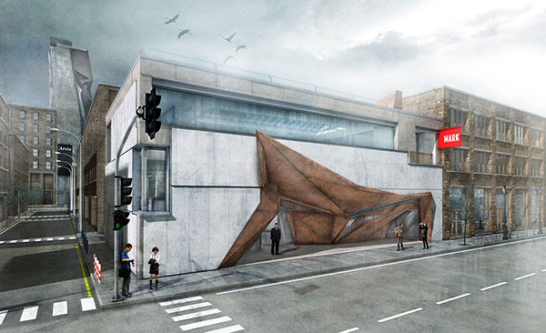 Concrete And Corten Steel Abandoned Building Articulation Evolo