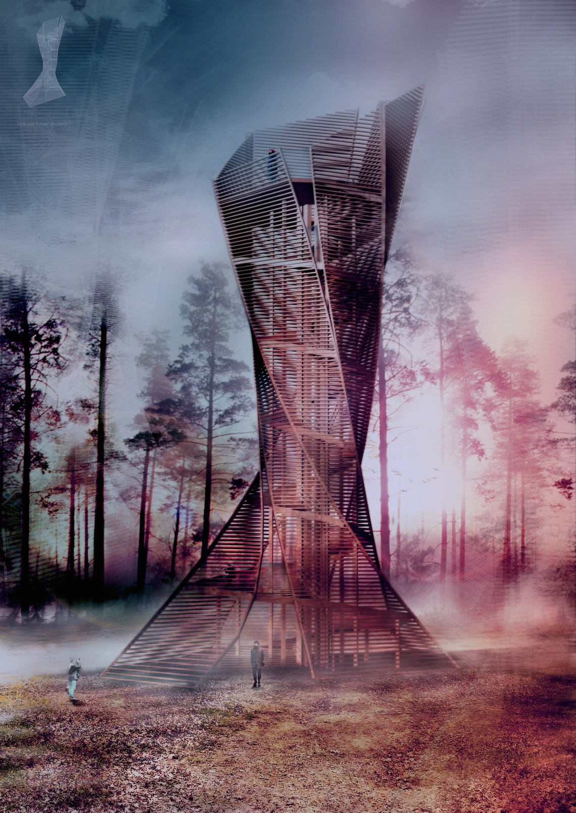 Wooden Look Out Tower In Italy Evolo Architecture Magazine