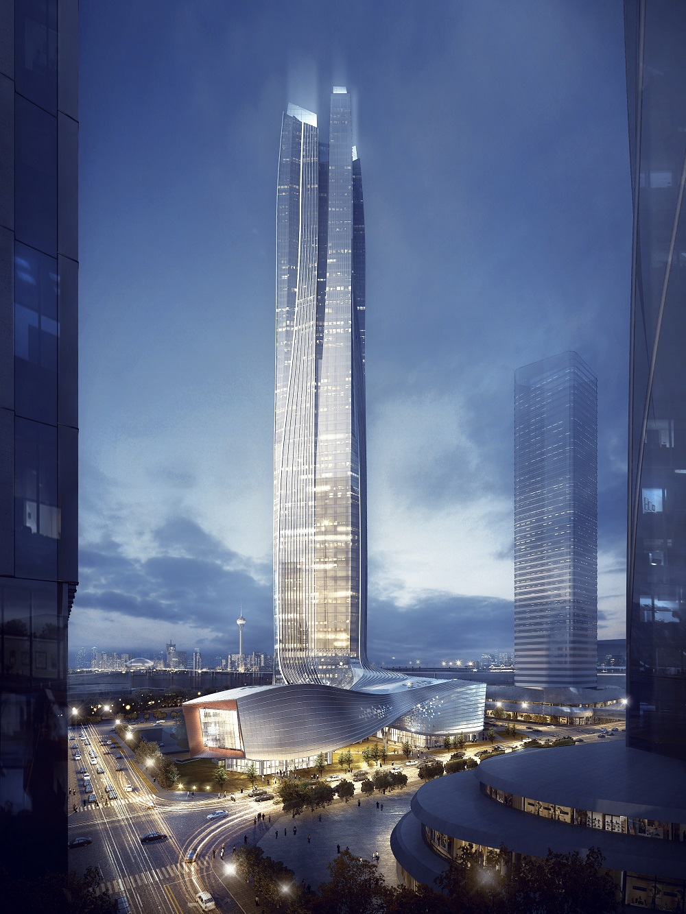 Four Prong Dragon-Inspired Skyscraper Rises in Zhuhai ...