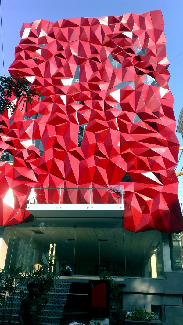 Ruby Aluminum Tessellated Facade For Boutique In India