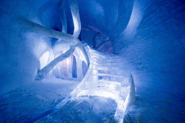 Handout photo provided by London art-architecture studio Atmos and shows 'Dreamscape', a new room at the ?365? Ice Hotel Sweden.