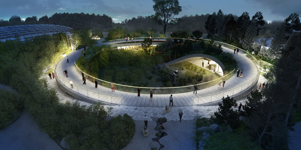 Big designs yin yang shaped panda habitat in copenhagen for Architecture yin yang