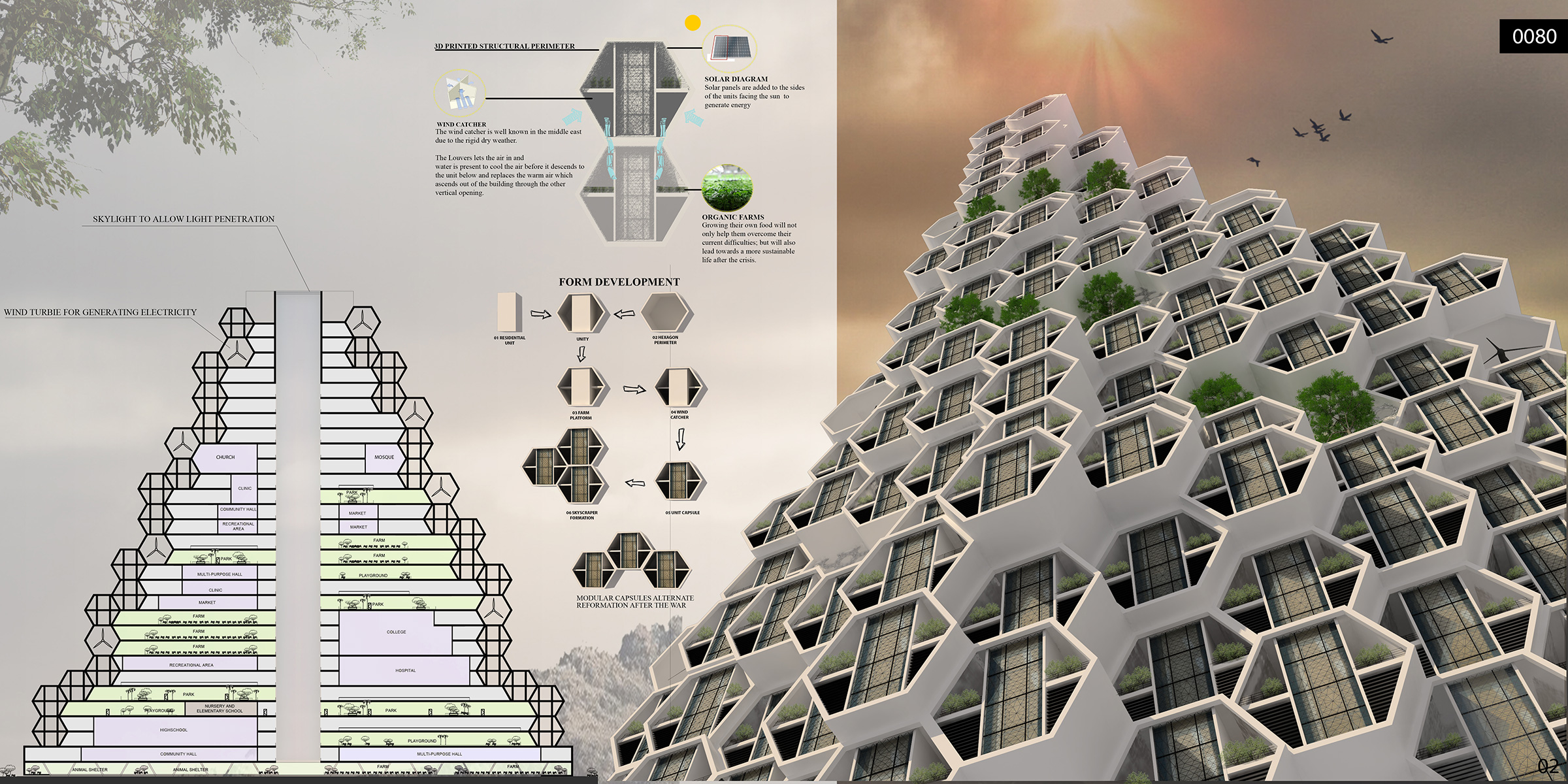 Honeycomb Refugee Skyscraper Evolo Architecture Magazine