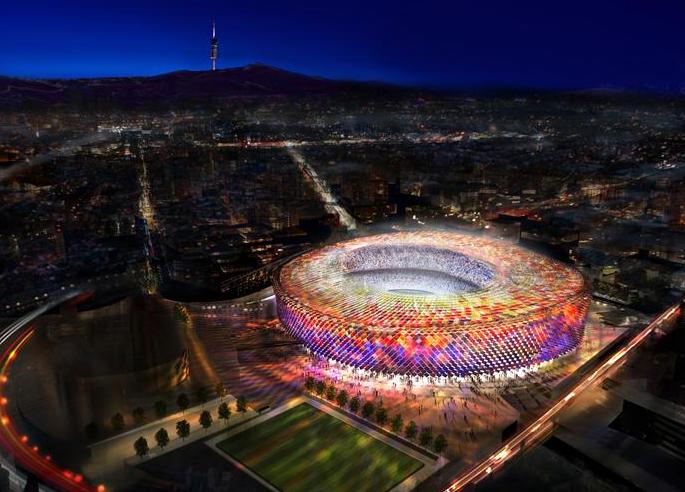 Fc Barcelona S Camp Nou Stadium Foster And Partners Evolo Architecture Magazine